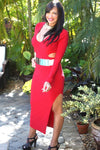 RED CRISTY DRESS