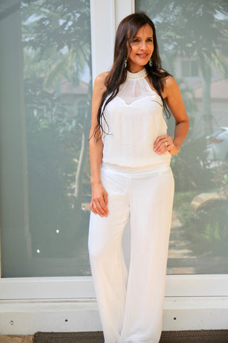 WHITE PEARL JUMPSUIT