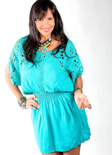 BLUE EYNI DRESS