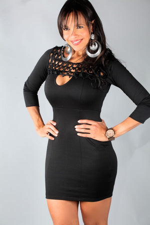 BLACK JANY DRESS