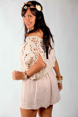BEIGE GERTRU DRESS