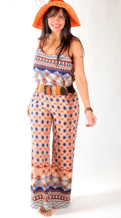 ORANGE BETTY JUMPSUIT