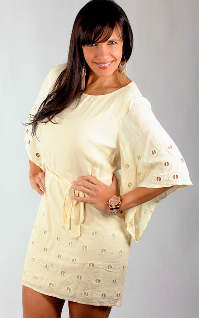 BEIGE ROMANTIC DRESS