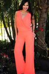 ORANGE NEON JUMPSUIT