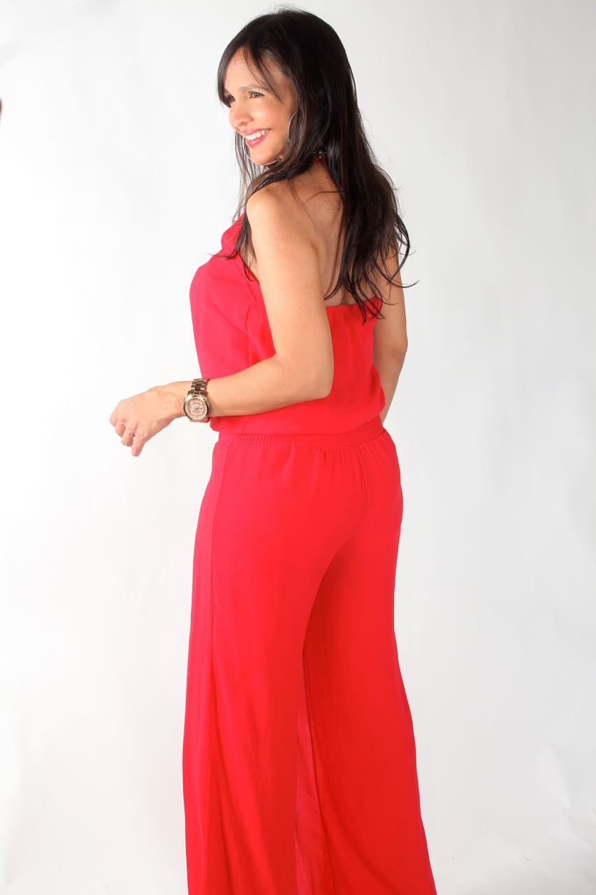 RED PEARL JUMPSUIT
