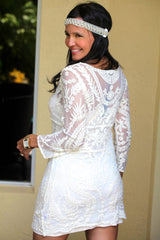 WHITE LACE ROMANCE DRESS