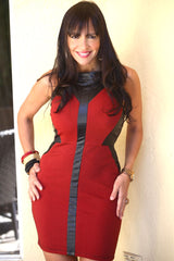 RED BLACK ONNY DRESS