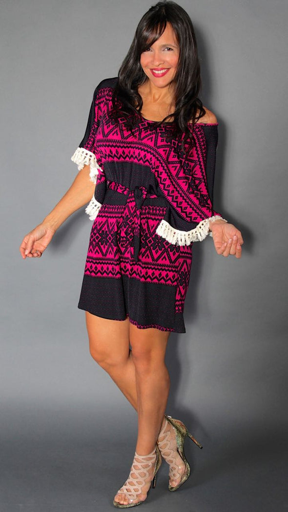 PINK BLACK XIOMY DRESS