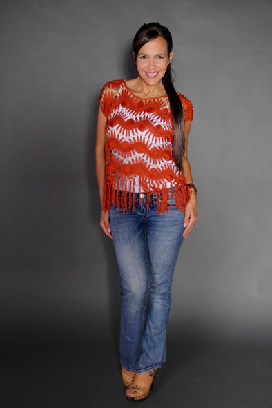 ORANGE XANDY TOP