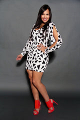 WHITE BLACK JANY DRESS