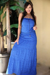 BLUE LONG DRESS