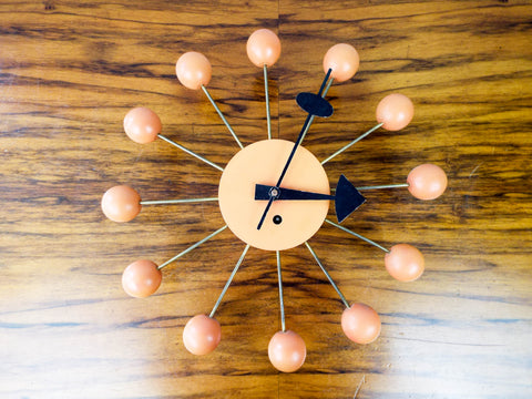 Original 1950s George Nelson Wind Up Ball Clock