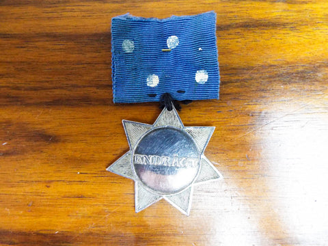 Antique European Silver Star TD Endragt Medal