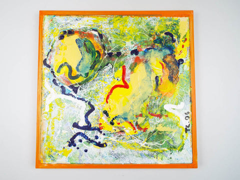 Signed Abstract Art Modern Oil Painting