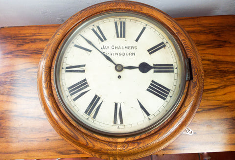 Antique British Railway School Clock