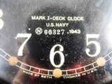 Vintage WW2 Seth Thomas Mark I Bakelite Deck Clock US Navy 1943 Military Clock