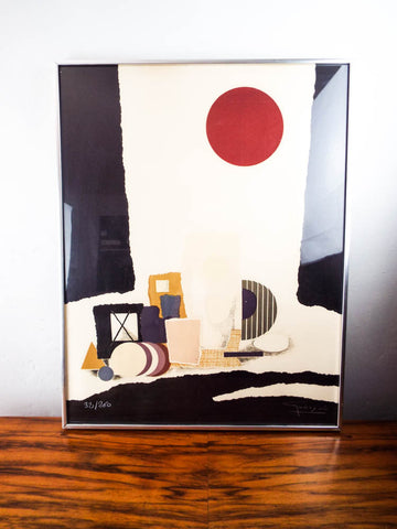 Original Lithograph Signed Abstract Modernism Art Spanish Antonio Guanse 32/260