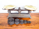 Rare Antique French Primitive Kitchen Scales & Weights