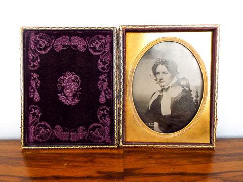 Antique Spooner Bros Half Plate Ambrotype