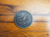 Rare Antique Political Temperance 1775 Patriotic Brass US Coin