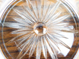 Antique Silver Bead Rimmed Cut Glass Champagne Coaster ~ Frank M Whiting