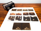 Antique Folding Stereoscope French Slide Viewer & 7 Glass 3D Slides Unis Paris