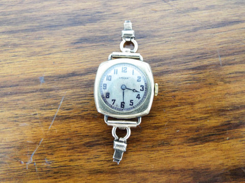 1920s Gruen Cushion Wrist Watch ~  Wisconsin Anti Saloon League