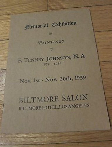 1930's Frank Tenney Johnson Memorial Art Exhibition Pamphlet - Yesteryear Essentials  - 1