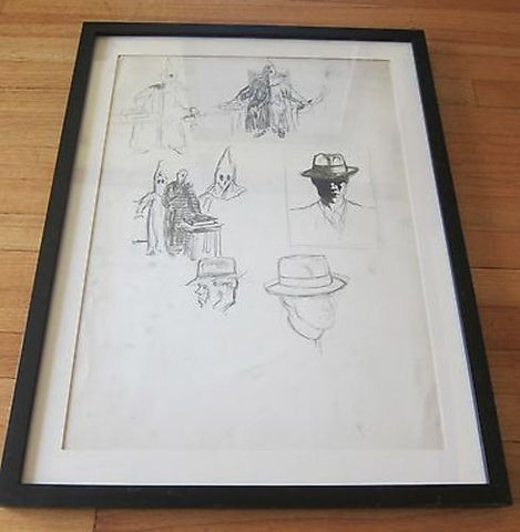 Original Pencil Drawings by Sam Hyde Harris, Pencil Art with authentication - Yesteryear Essentials  - 1