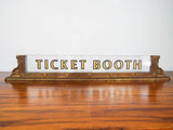 Art Deco Style 1920s Ticket Booth Sign