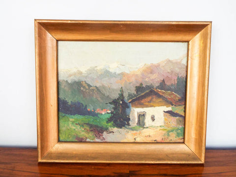 Antique Signed Landscape Painting ~ Andreas Dirks