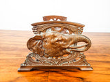 Antique Bronze Art Nouveau Sliding Bookends