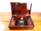 Antique English Mahogany Wood Sewing Box