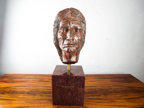 Vintage Signed Native American Sculpture