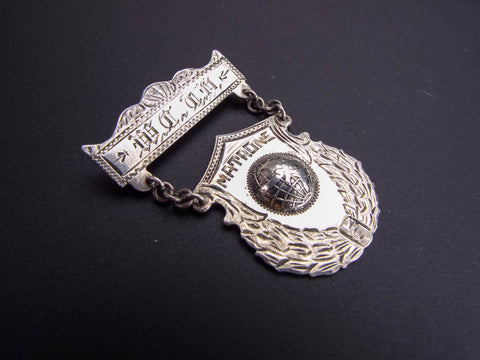 Antique 19th C Silver WCTU Matrons Medal