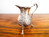 Antique Georgian British 1754 Sterling Silver Cream Jug