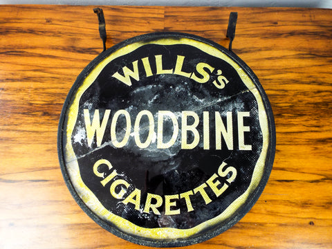 Antique British Advertising Wills Star Cigarettes Sign ~ Double Sided