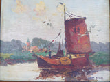 Antique Signed Seascape Oil Painting ~ Andreas Dirks