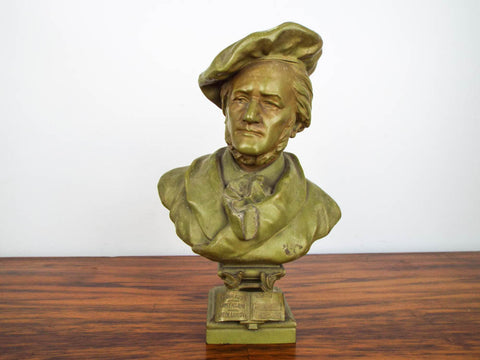 Vintage Metal Richard Wagner Sculpture