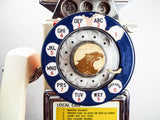 Vintage Rotary 3 Coin Pay Phone Bicentennial Eastern Electric Bell System 1976