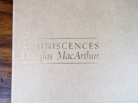Vintage First Edition Book Reminiscences Douglas MacArthur 1964 702/1000 Ltd Ed