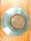 Vintage 1970s Green Studio Art Pottery Frog Serving Plate Ceramic Appetizer Dish