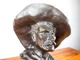 "Vintage Western Bronze Sculpture by Frederic Remington ~ ""The Sergeant"""
