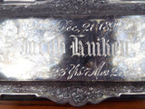 Antique Victorian 1800s Pewter Death Plaque ~ Jacob Kruiken 1892