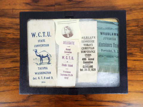 Womans Temperance WCTU Delegate Ribbons