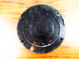 Vintage WW2 Chelsea Mark I Deck Clock Bakelite US Navy Black Face 1943 Mounted