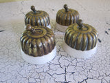 Set of 4 Victorian Porcelain & Brass Light Switches - Yesteryear Essentials  - 12