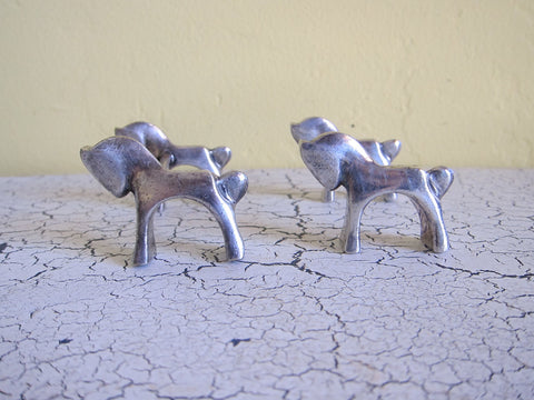 Pair of Art Deco Decor Horse Knife Rests - Yesteryear Essentials  - 1