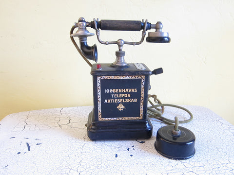 Antique Ericsson Danish Telephone - Yesteryear Essentials  - 1