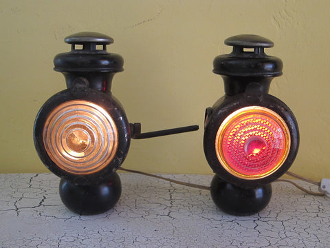 Antique Ford Headlights by The Thos J Corcoran Lamp Co - Yesteryear Essentials  - 1